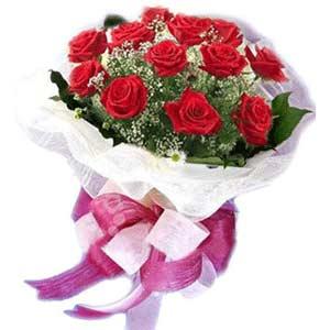 Gaziantep çiçek servisi , çiçekçi adresleri  11 adet kırmızı güllerden buket modeli