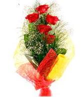 5 li kırmızı gül buketi  Gaziantep çiçek yolla , çiçek gönder , çiçekçi