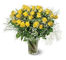 Gaziantep online çiçekçi , çiçek siparişi  15 adet sarigül mika yada cam vazoda