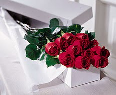 Gaziantep çiçek servisi , çiçekçi adresleri  özel kutuda 12 adet gül
