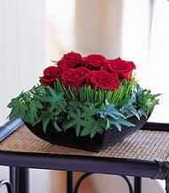 Gaziantep online çiçekçi , çiçek siparişi  10 adet kare mika yada cam vazoda gül tanzim