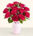 Gaziantep güvenli kaliteli hızlı çiçek  10 kirmizi gül cam yada mika vazo tanzim