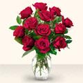 Gaziantep anneler günü çiçek yolla  10 adet gül cam yada mika vazo da