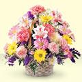 Gaziantep çiçek , çiçekçi , çiçekçilik  sepet içerisinde gül ve mevsim
