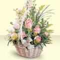 Gaziantep ucuz çiçek gönder  sepette pembe güller