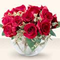 Gaziantep çiçek siparişi sitesi  mika yada cam içerisinde 10 gül - sevenler için ideal seçim -