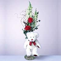 2 adet gül ve panda özel  Gaziantep yurtiçi ve yurtdışı çiçek siparişi