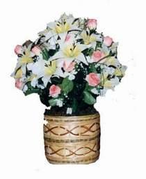yapay karisik çiçek sepeti   Gaziantep internetten çiçek satışı