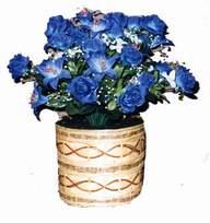yapay mavi çiçek sepeti  Gaziantep çiçek satışı
