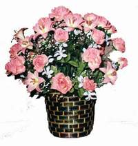 yapay karisik çiçek sepeti  Gaziantep çiçek siparişi sitesi