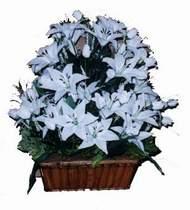 yapay karisik çiçek sepeti   Gaziantep çiçek gönderme