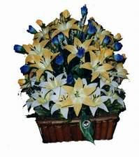 yapay karisik çiçek sepeti   Gaziantep hediye sevgilime hediye çiçek