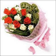 5 kirmizi 5 beyaz güllerden   Gaziantep çiçek gönderme
