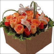 kare sandikta 11 gülllerden   Gaziantep yurtiçi ve yurtdışı çiçek siparişi