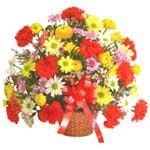 karisik renkli çiçek sepet   Gaziantep 14 şubat sevgililer günü çiçek