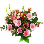 lilyum ve gerbera çiçekleri - çiçek seçimi -  Gaziantep hediye sevgilime hediye çiçek