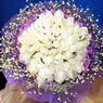 71 adet beyaz gül buketi   Gaziantep çiçek mağazası , çiçekçi adresleri