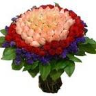 71 adet renkli gül buketi   Gaziantep kaliteli taze ve ucuz çiçekler