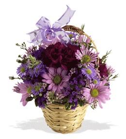 Gaziantep çiçek , çiçekçi , çiçekçilik  sepet içerisinde krizantem çiçekleri