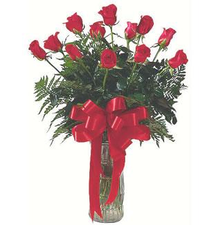 12 adet gül cam içerisinde  Gaziantep çiçek satışı
