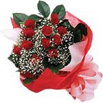 Gaziantep çiçek yolla , çiçek gönder , çiçekçi   KIRMIZI AMBALAJ BUKETINDE 12 ADET GÜL