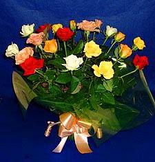 Gaziantep güvenli kaliteli hızlı çiçek  13 adet karisik renkli güller