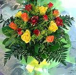 13 adet karisik gül buketi demeti   Gaziantep çiçek , çiçekçi , çiçekçilik