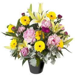 karisik mevsim çiçeklerinden vazo tanzimi  Gaziantep çiçek , çiçekçi , çiçekçilik