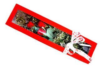 Gaziantep güvenli kaliteli hızlı çiçek  Kutuda 3 adet gül