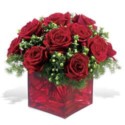 Gaziantep anneler günü çiçek yolla  9 adet kirmizi gül cam yada mika vazoda