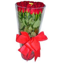 Gaziantep çiçek siparişi sitesi  12 adet kirmizi gül cam yada mika vazo tanzim