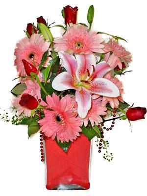 Gaziantep çiçekçi telefonları  karisik cam yada mika vazoda mevsim çiçekleri mevsim demeti