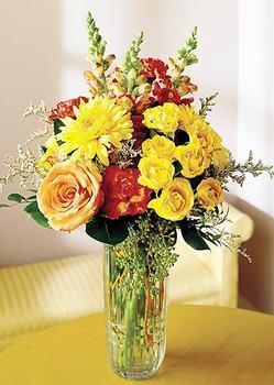 Gaziantep ucuz çiçek gönder  mika yada cam içerisinde karisik mevsim çiçekleri