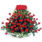 Gaziantep internetten çiçek siparişi  41 adet kirmizi gülden sepet tanzimi