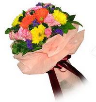 Gaziantep yurtiçi ve yurtdışı çiçek siparişi  Karisik mevsim çiçeklerinden demet