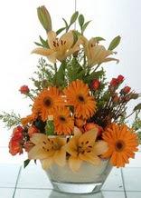 Gaziantep internetten çiçek satışı  cam yada mika vazo içinde karisik mevsim çiçekleri