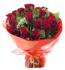 Gaziantep hediye çiçek yolla  11 adet kimizi gülün ihtisami buket modeli