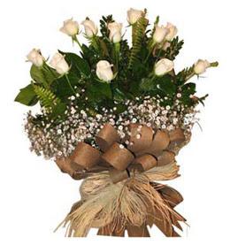 Gaziantep çiçek online çiçek siparişi  9 adet beyaz gül buketi