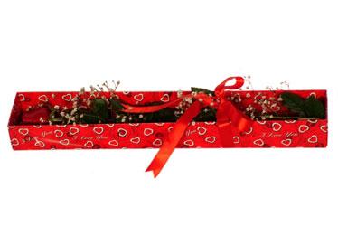 Gaziantep çiçek online çiçek siparişi  kutu içerisinde 1 adet kirmizi gül
