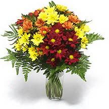 Gaziantep online çiçekçi , çiçek siparişi  Karisik çiçeklerden mevsim vazosu