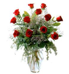 Vazo içerisinde 11 kirmizi gül  Gaziantep çiçek yolla