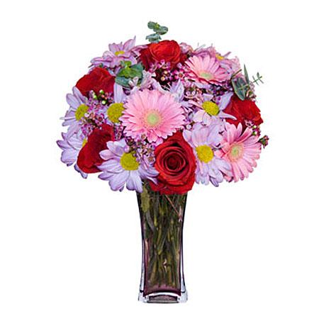 Görsel hediye karisik cam mevsim demeti  Gaziantep yurtiçi ve yurtdışı çiçek siparişi