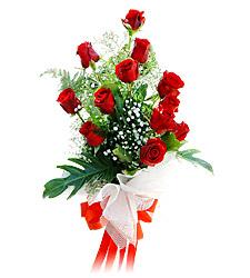 11 adet kirmizi güllerden görsel sölen buket  Gaziantep çiçek yolla