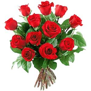 11 adet bakara kirmizi gül buketi  Gaziantep çiçek siparişi vermek