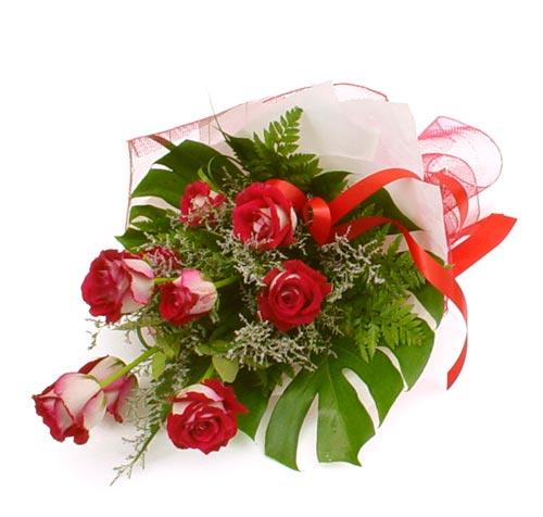 çiçek gönder 7 adet kirmizi gül buketi  Gaziantep internetten çiçek siparişi