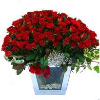 Gaziantep İnternetten çiçek siparişi   101 adet kirmizi gül aranjmani