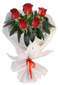 5 adet kirmizi gül buketi  Gaziantep İnternetten çiçek siparişi