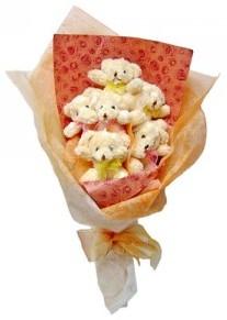 12 adet ayiciktan buket  Gaziantep online çiçekçi , çiçek siparişi