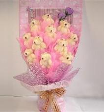 11 adet pelus ayicik buketi  Gaziantep anneler günü çiçek yolla
