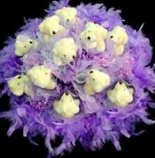 11 adet pelus ayicik buketi  Gaziantep çiçek mağazası , çiçekçi adresleri